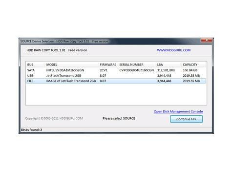 نرم افزار ایمیج گیری HDD Raw Copy Tool
